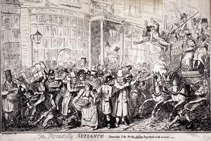 The Picadilly Nuisance, London, 1818 by George Cruikshank