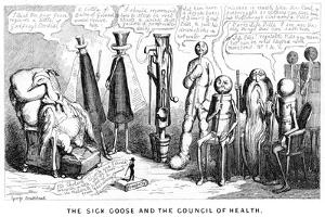 The Sick Goose and the Council of Health, 19th Century by George Cruikshank