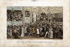 Tom, Jerry and Logic at the Grand Carnival, 1821 by George Cruikshank