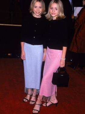 """Twin Actresses Mary Kate and Ashley Olsen at the Film Premiere of """"Anna and the King"""" by George Dabrowski"""