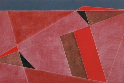 Triangulated Red Landscape, 2002