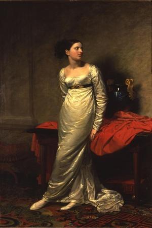 Portrait of Mrs White (Nee Watford), Full Length in a White Silk Dress, 1809