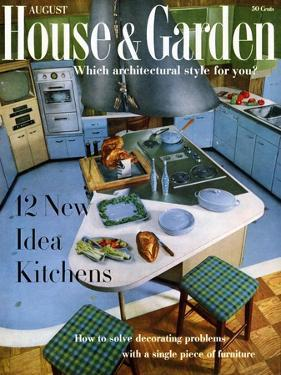 House & Garden Cover - August 1958 by George De Gennaro