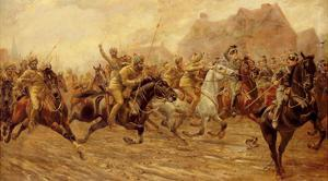 The Charge of the Bengal Lancers at Neuve Chapelle by George Derville Rowlandson
