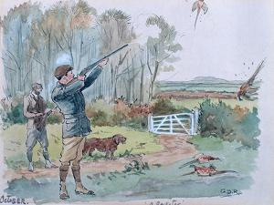 The Month of October: Pheasant Shooting by George Derville Rowlandson