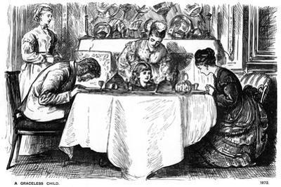 A Graceless Child, 1872 by George Du Maurier
