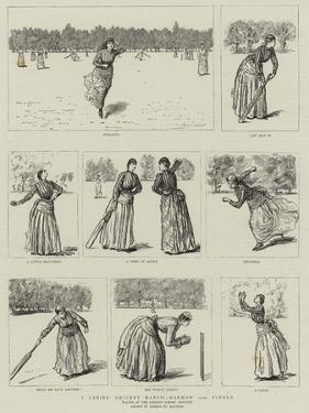 A Ladies' Cricket Match, Harrow Versus Pinner by George Du Maurier