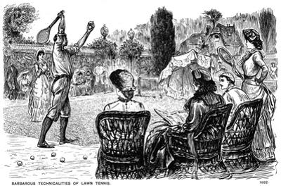 Barbarous Technicalities of Lawn Tennis, 1882 by George Du Maurier
