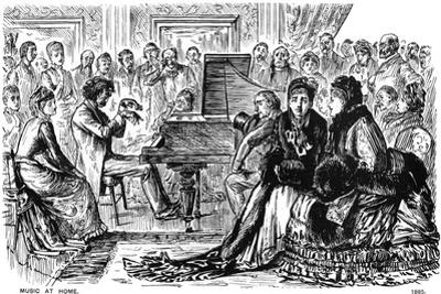 Music at Home, 1885 by George Du Maurier