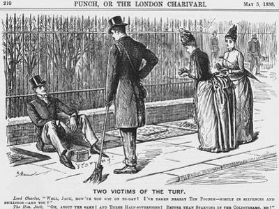 Two Victims of the Turf, 1888 by George Du Maurier