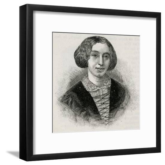 George Eliot.--Framed Giclee Print