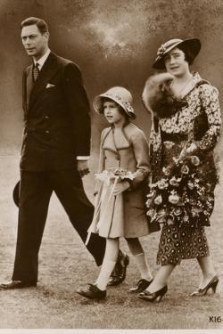 George, Elizabeth Bowes-Lyon and Princess Elizabeth