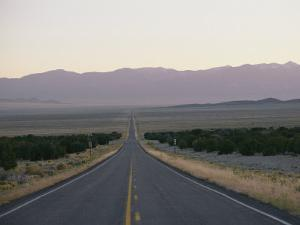 Highway 50 Near the Nevada-Utah State Line by George F. Mobley