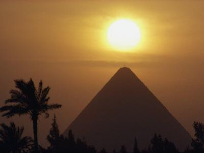 The Pyramid of Cheops, the First and Largest of the Three Pyramids of Giza