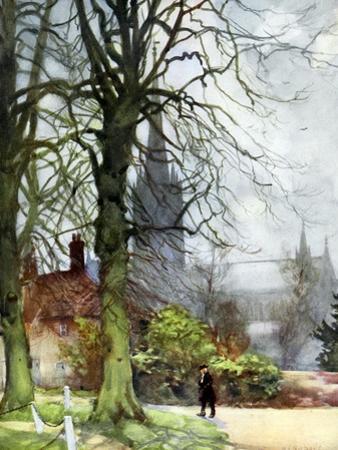 Salisbury Cathedral, Wiltshire, 1924-1926 by George F Nicholls