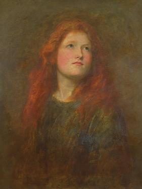 Portrait Study of a Girl with Red Hair, C.1885 by George Frederick Watts