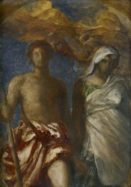 Time and Death, C. 1868 by George Frederick Watts