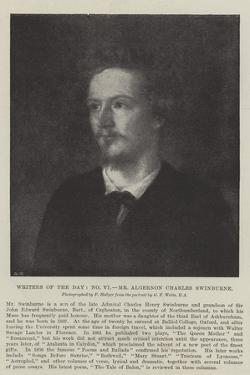 Writers of the Day, Mr Algernon Charles Swinburne by George Frederick Watts