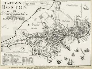 Boston Map, 1722 by George G. Smith