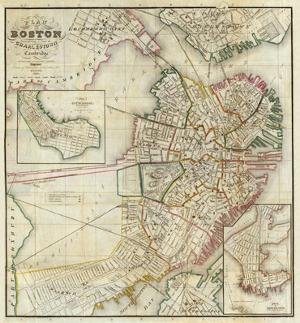 Plan of Boston Comprising a Part of Charlestown and Cambridge, c.1846 by George G. Smith