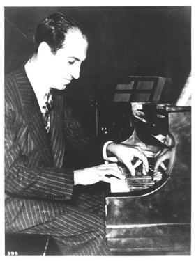 George Gershwin (1898-1937) American Composer, at the Piano, c.1935