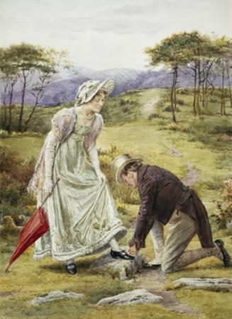 A Gentlemanly Act by George Goodwin Kilburne