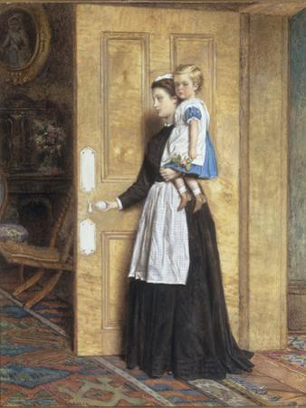 A Nurse with her Charge, 1870 by George Goodwin Kilburne