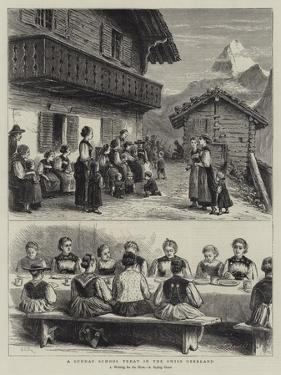 A Sunday School Treat in the Swiss Oberland by George Goodwin Kilburne