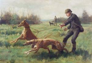 Exercising Greyhounds by George Goodwin Kilburne