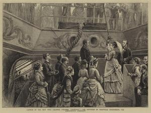 Launch of the New Twin Channel Steamer Castalia by George Goodwin Kilburne