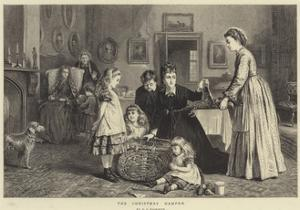 The Christmas Hamper by George Goodwin Kilburne