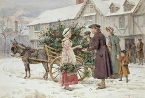 The Holly Cart by George Goodwin Kilburne