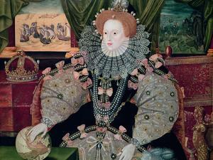 Elizabeth I, Armada Portrait, circa 1588 by George Gower