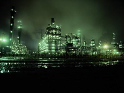 Chemical Plant at Night by George Grall