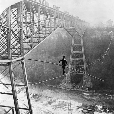 Dixon Crossing Niagara on a Tightrope