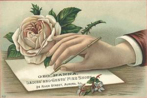 George Hanna, Ladies' and Gents' Fine Shoes Trade Card