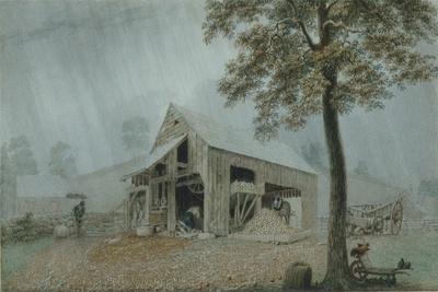 Rainstorm, Cider Mill at Redding, Connecticut, c.1840
