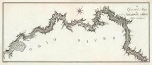 General Map of the River Ohio, Plate 3, c.1796 by George Henri Victor Collot