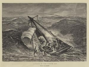 A Gale in the North Sea by George Henry Andrews