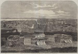 Birdseye View of the City of Washington, with the Capitol in the Foreground by George Henry Andrews