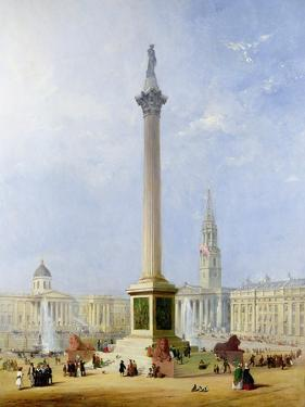 Projected View of Trafalgar Square, 1844 by George Henry Andrews