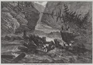 The Canadian Lumber Trade, Clearing a Jam by George Henry Andrews