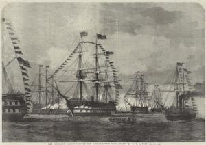 The Gun-Boats Passing Through the Line-Of-Battle Ships by George Henry Andrews