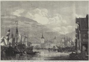 The Port, Bergen, Norway by George Henry Andrews