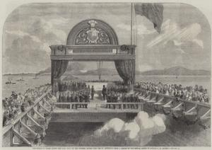 The Prince of Wales Laying the Last Stone of the Victoria Bridge over the St Lawrence by George Henry Andrews