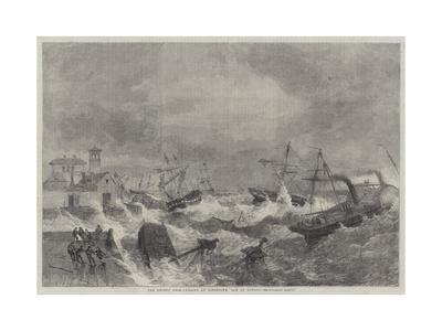 The Recent Gale, Wrecks at Kingstown, Bay of Dublin