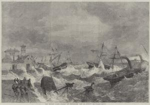 The Recent Gale, Wrecks at Kingstown, Bay of Dublin by George Henry Andrews