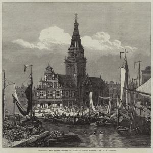 Townhall and Butter Market at Alkmaar, North Holland by George Henry Andrews