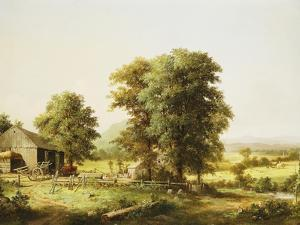 Summer Farm Scene by George Henry Durrie