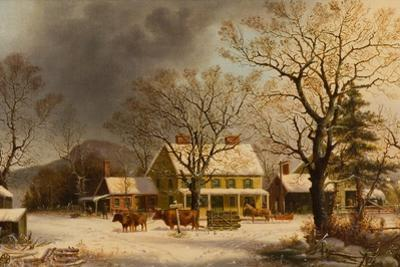 The Old Inn - Ten Miles to Salem, 1860-63 by George Henry Durrie